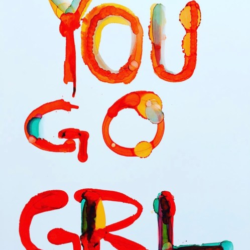 YOU GO GRL (RED) POSTER