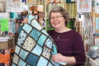 Owner Heather Stock is celebrating 30 years in business for The Quilt Place, Shakespeare