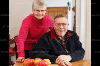 Community volunteers Ron and Joyce Hill in their East Zorra-Tavistock rural home.