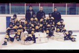 The Novice Reps are, from the left, front row (goalies) Bryce Hutcheson, Logan MacMillan; second row, Morgan Brenneman, Logan Rose, Blake Stere, Rowan Bartlett, Carly McIntosh and Alex Michiels; third row, Tucker Otto, Carter Skillings, Cooper Yantzi, Jake Hauss and Luc Dionne; back row, (coaches) Chad Swartzentruber, Reid Yantzi and Tim Otto.