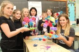 Who knows the story of the Lorax by Dr. Seuss? Students in Mrs. Kaster's Grade 5 class at Tavistock Public School spent part of Earth Day on Friday making colourful truffle trees and plasticine replicas of the Lorax in their classroom. From the left are: Carling Schlosser, Aleigha Bontaine, Reegan Ziegler, Xuan En Tan, Logan Nieman Russell, Andrew Weitzel, Connor Roth, and Brooklyn Lange.