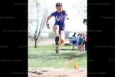 Practicing for the girls' long jump at Field Day at Hickson Central School last Friday is Katie Louie.