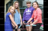 "Cutting ""Freezies for Fort McMurray"" were, from the left, Madison Edmondson, 9, Grade 4; Callie Brenneman, 10, Grade 5; Nicole Danen, 12, Grade 6; and Belle Houle, 10, Grade 5."