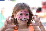 Jenna McWhirter with her painted face at the Sidewalk Sale.