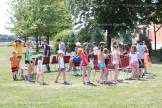 Students play musical chairs as part of their Play Day.