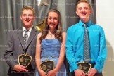 TPS Grade 8 Academic Award winners are, from the left, Peter, Marie and William Behnke.