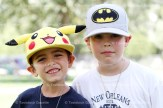 Brothers Henry (left) and William Lefebvre pose with their movie hats at Camp Alliwannado.