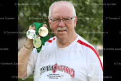 Mike Sullivan with medals from the 2016 Transplant Games in Toronto August 8-13.