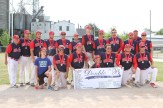 Members of silver medalists ON3 Oshawa Double B include: Stephen MacLeod, Clayton Robinson, Luke Zettel, Layne OHallaran, Jake Bricknell, Alex Dumais, Mitch Gibson, Josh Maguire, Riley McAdams, Hunter Bagshaw, Grant Fry, Adam Harris, Matt Reid, Frank Sullivan, Brendan Hall, Jeff St. Pierre, and coaches Peter Landers, Donna Mather and John Mather.