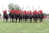 Members of the RCMP Musical Ride perform in Tavistock on Monday, August 15, 2016.
