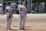Tavistock Athletics' Justin Wagler #17 was named the All Star utility player. At left is coach Zack Stevenson #16.