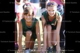 Shown before the race, Ashlynn Witt (right) placed 8th in the Grade 5 Junior division while Naomi Ropp was 37th.