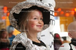 Tianna Lupton, 6, dressed as a dollhouse at the Legion Hallowe'en Party on October 15th.