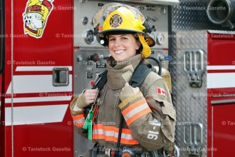 Shelby Pozza joined the East Zorra-Tavistock Fire Department, Hickson Station, December 1, 2015, along with four other recruits.