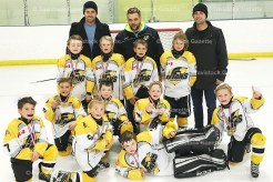 Novice Reps win Aylmer Challenge From the left, in front - Alex Everett, Drew Roth, Logan MacMillan, Tucker Otto; middle row: Rowan Bartlett, Jay Alexander, Gavin Witt; back row (players): Liam Hilts, Cooper Yantzi, Bailey Brenneman, Chace Robinson; back row (coaches): Chad Swartzentruber, Tim Otto, and Reid Yantzi.