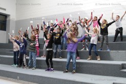 Tavistock Public School Choir students learn the Croki-Shuffle which they will perform at the Canada 150 celebration on Saturday, May 13, 2017 during the Queen's Park Stone Gates Re-dedication ceremony at 11:00 a.m.