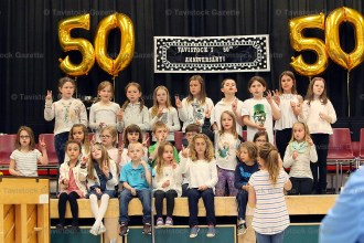 The Primary Choir entertains at the 50th Anniversary celebration on Friday, May 5, 2017.