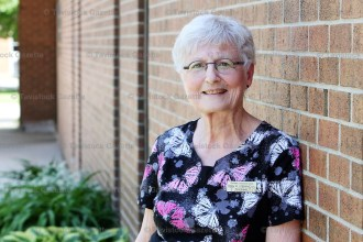 Registered Nurse Joan Leeming was recently honoured for 30 years at the Tavistock medical clinic. She continues as nurse manager.