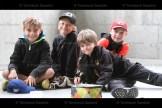 Grade 3 boys, Rowan Bartlett, Cooper Yantzi, Scott Schweitzer and Tucker Otto enjoy some relaxation in the pavilion at the Tavistock Public School primary picnic on Wednesday, June 23rd.