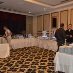 Tournament room buffet helps those who cannot eat from the restaurant. Restorandan yiyemeyenler için turnuva büfesi.