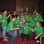 Joyful group of Iranian players.