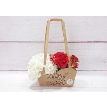 باقة من الجوري الأحمر و زهرة الهيدرنجا