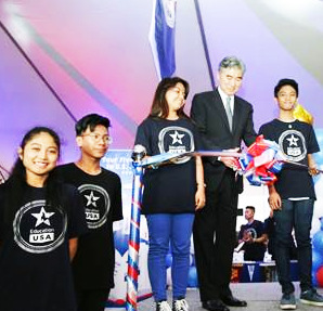 ANNUAL HIGHER EDUCATION FAIR. US Ambassador to the Philippines Sung Kim cuts the ceremonial ribbon (above) to open the Annual Higher Education Fair on February 7, 2017 at the Philippine Sofitel Plaza. Education USA, the U.S. government's official source on U.S. higher education, welcomes 1,400 students, parents, and educators to this event. Representatives from 20 U.S. colleges and universities attended the fair and met with prospective Filipino students. (Photo, courtesy of US Embassy, Manila)