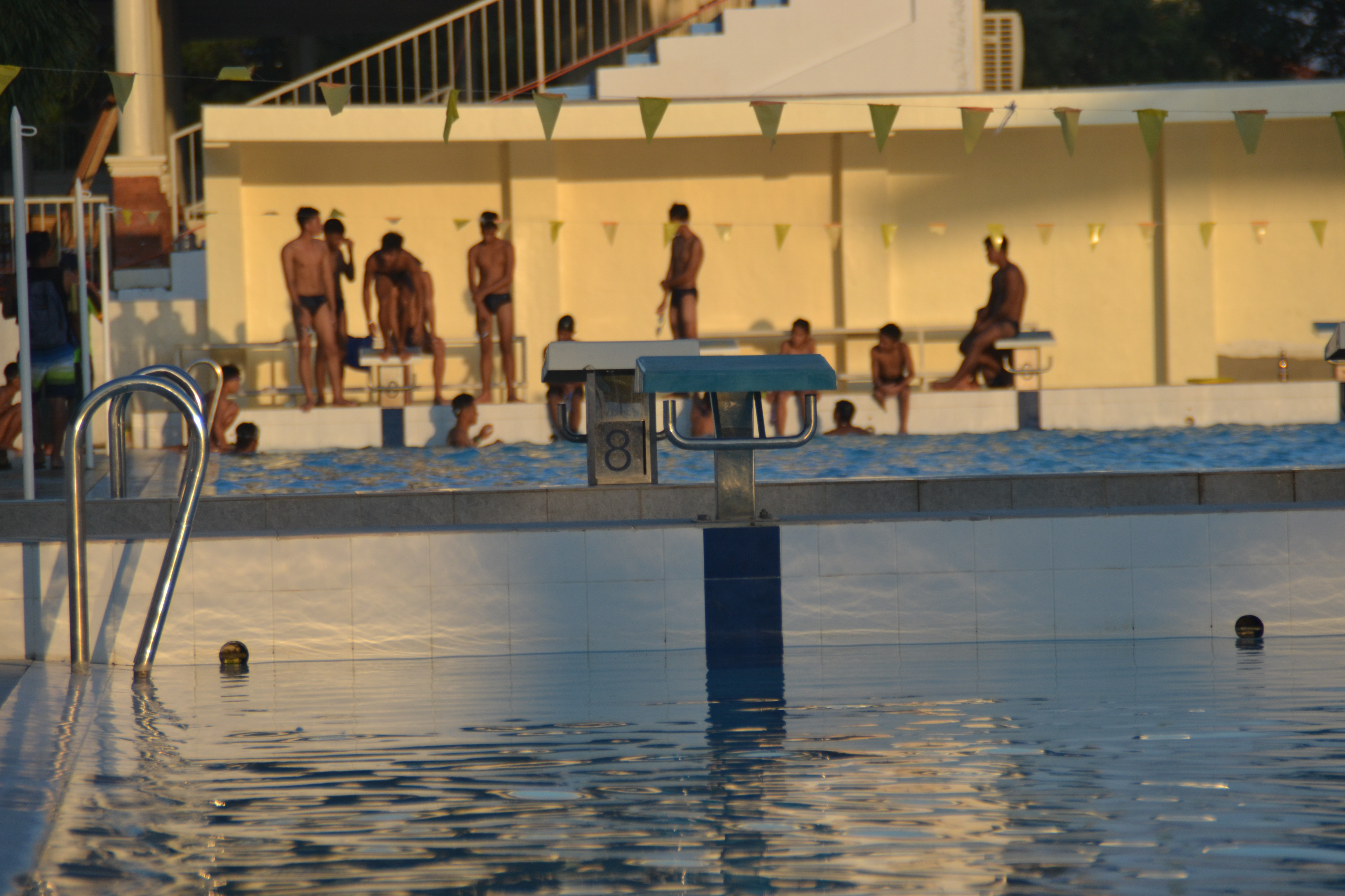 The touch pad swimming pool at President Quirino Stadium