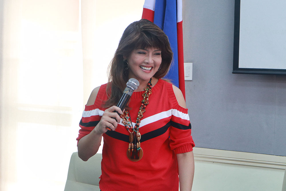 Ilocos Norte Governor Imee Marcos at the Sorsogon City 1st Private Teacher Convention last July 20, 2018.