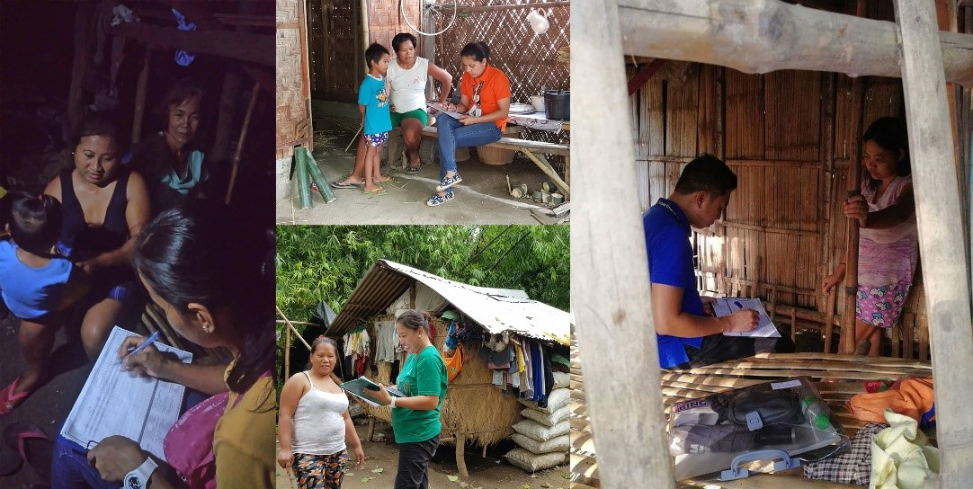DSWD Field Office 1 employees exerts additional effort in locating and validating the targeted poor households of UCT who transferred within the City/Municipalities of Region 1. (photo by DSWD FO 1)