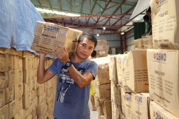 Eduard C. Vilog, 28, from Brgy. Biday, City of San Fernando, La Union volunteers for DSWD