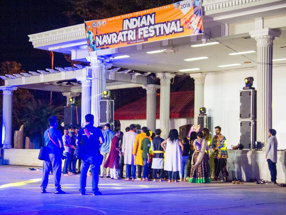 Indian Navratri Festival in Vigan City. October 18, 2018.