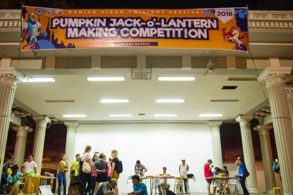 Jack o' Lantern making contest at Plaza Burgos, Vigan City.