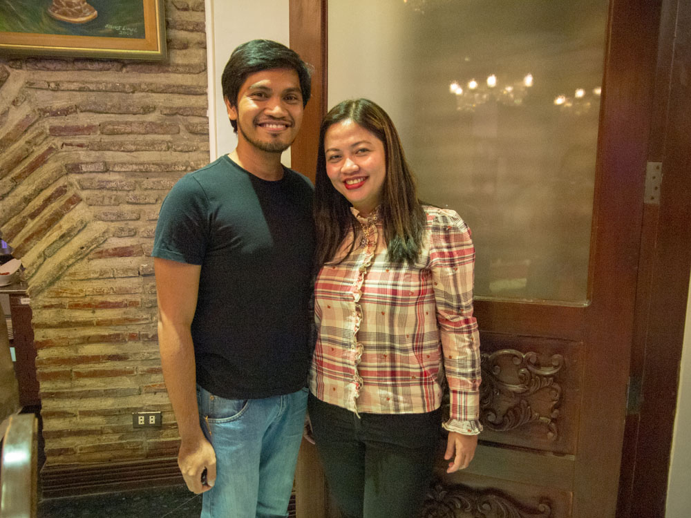 PHOTO: The author with Ms. Zen Prudentino, Fly Ace Corporation Manager for Edible Oils.