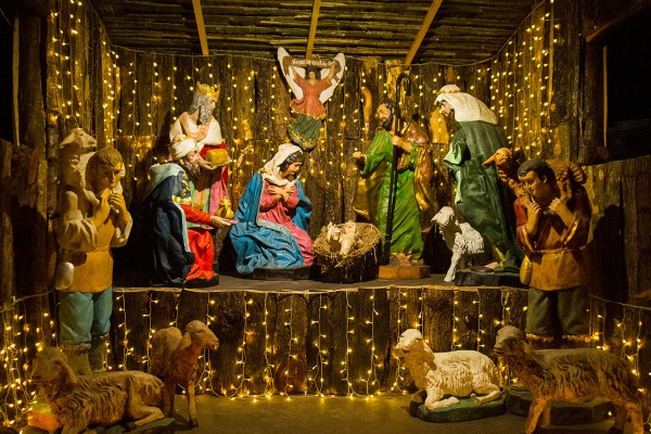 A MOST HUMBLE BIRTH. The simple nativity scene near the west entrance of the St. Paul church in Vigan City commemorates the humble birth of Jesus Christ in a cave in Bethlehem with only the shepherds and wise men bearing witness, quietly reminding us to slow down and turn away from the consumerism and excess that now pervades the celebration of the season. (photo by Jasper Espejo)