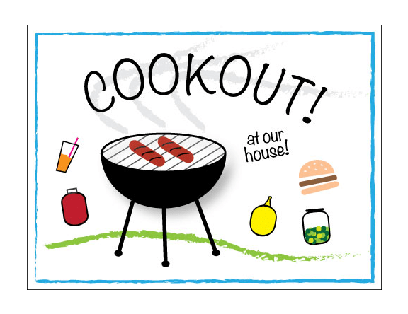 cookout invitation free printables