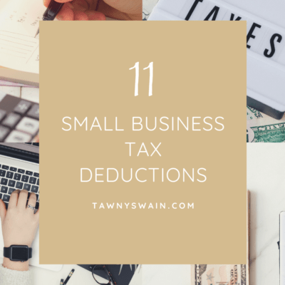 11 Small Business Tax Deductions