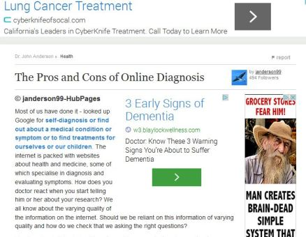 Self Diagnoses Health Online