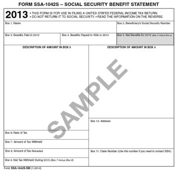 SSA-1042S - Social Security Retirement Benefits Withholding