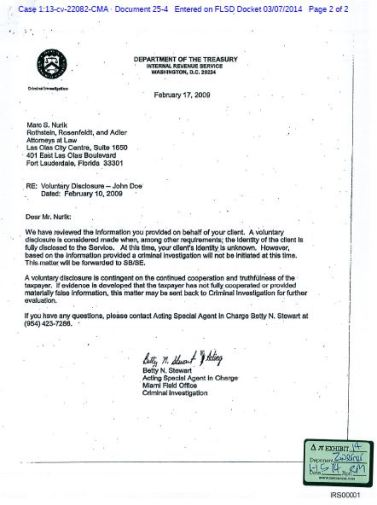 IRS ZwerNer OVD letter John Doe