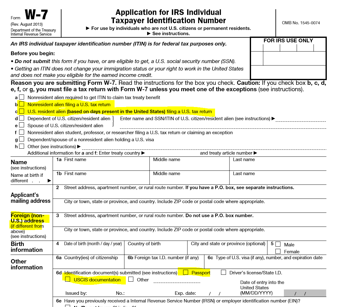 overseas bank account irs form