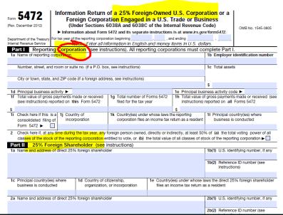 IRS Form 5472