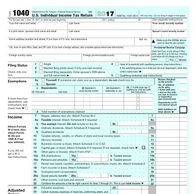 1040 irs form 1040 yr 2017