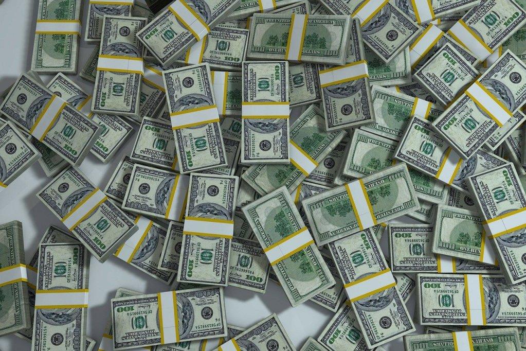 packs, pile, money
