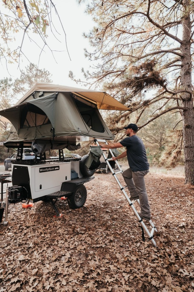Roof top tent camping in a Woolly Bear