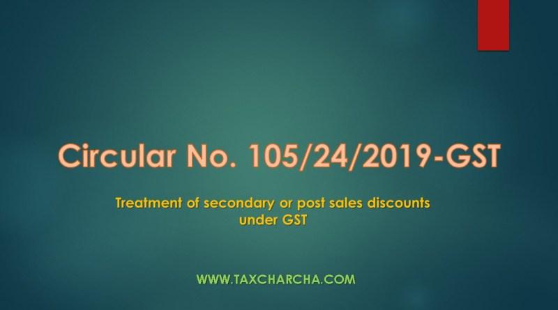 Circular No. 105/24/2019-GST