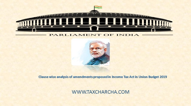 analysis of income tax amendments in union budget 2019