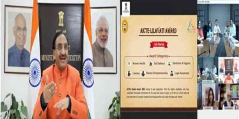 AICTE's Lilavati Award-2020 launched virtually by Education Minister