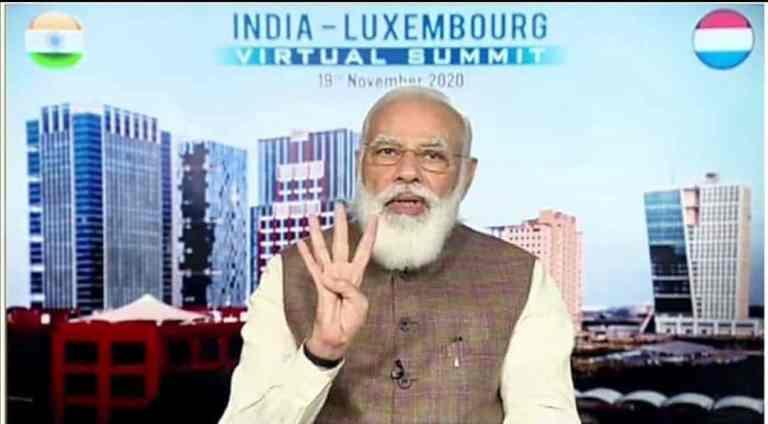 PM Modi addressed India Luxembourg virtual summit