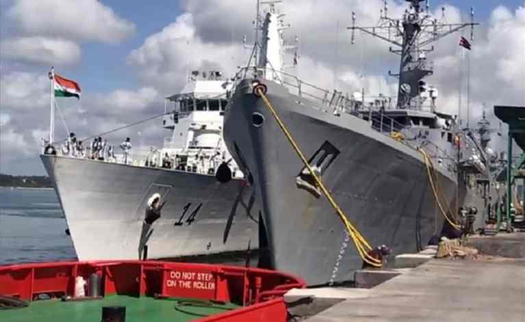 Indian Naval Ship Airavat arrives at Port of Mombasa, Kenya